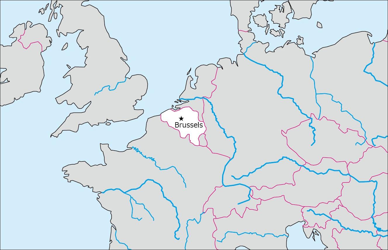ベルギーの白地図   Blank Maps of Respective Nations