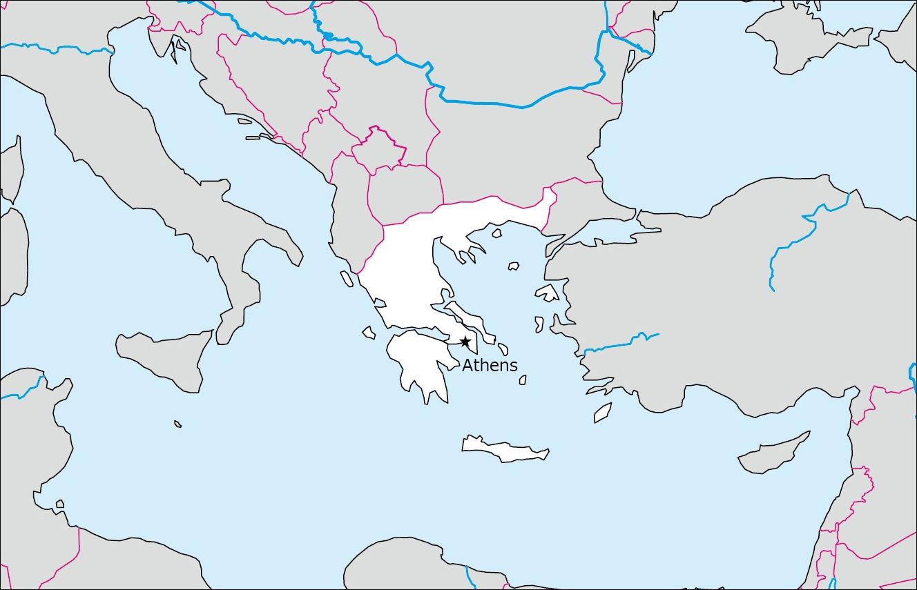 ギリシャの白地図 Blank Maps Of Respective Nations