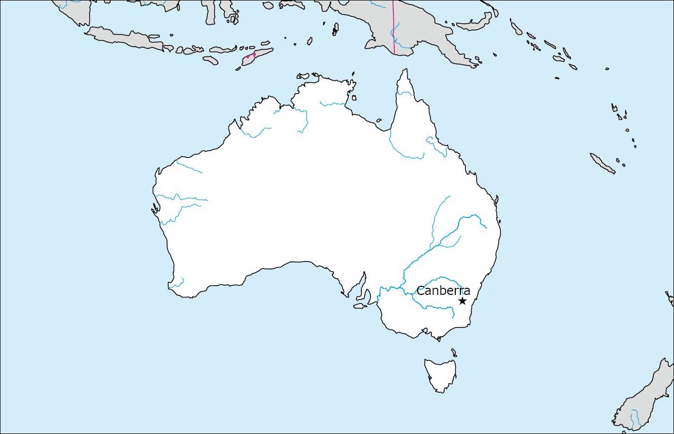 オーストラリアの白地図 Blank Maps Of Respective Nations - Empty map of australia