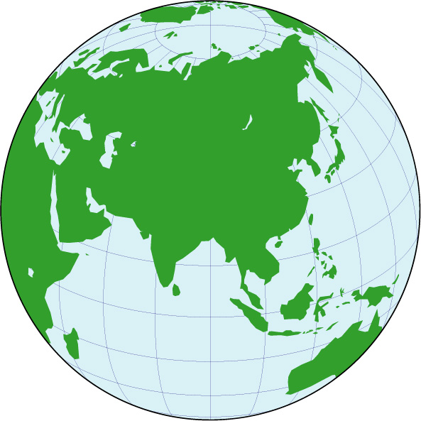 Orthographic projection map asia center gumiabroncs Images