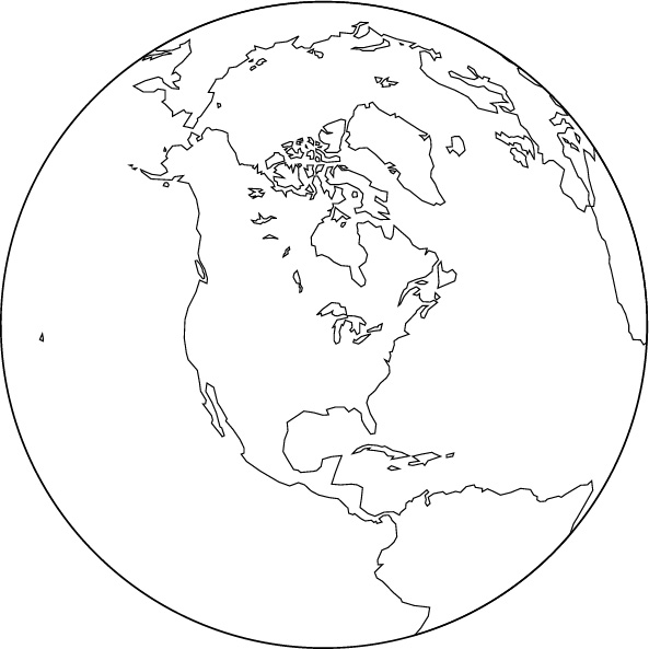 Orthographic projection blank map north america center gumiabroncs Choice Image