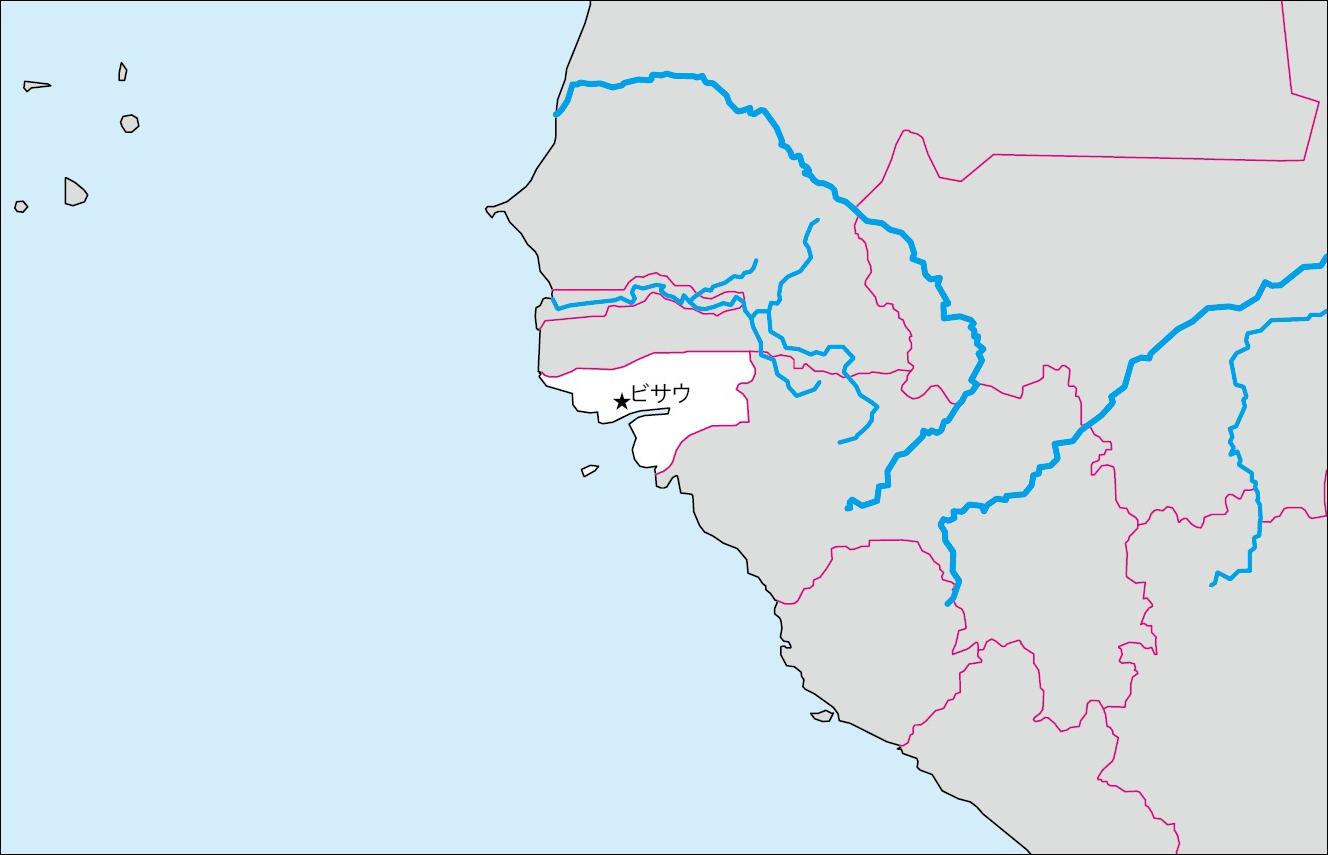ギニアビサウ白地図(首都なし)のフリー画像 ギニアビサウの基礎データ ... 各国の白地図 |