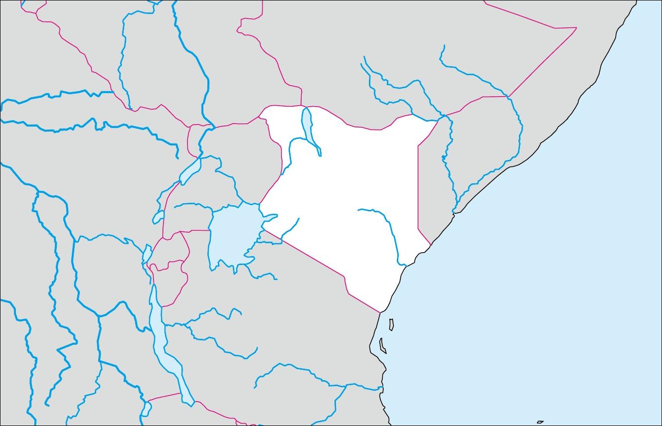 白地図 アジア 白地図 フリー : ケニアの白地図 | 各国の白地図