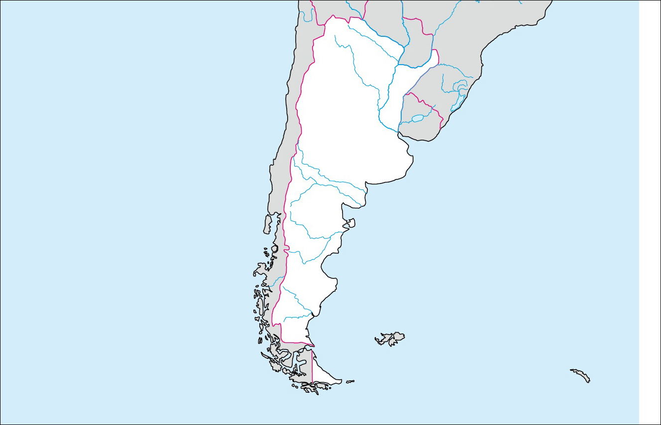 アルゼンチンの基礎データ [ さらに詳しいアルゼンチンのデータは→世界... 各国の白地図  