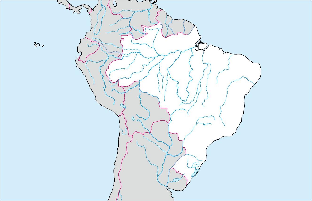 ブラジル白地図(首都なし)の ...