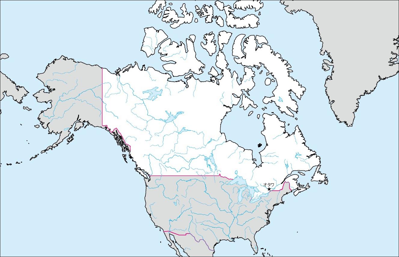 無料 アフリカ 白地図 無料 : カナダの白地図 | 各国の白地図