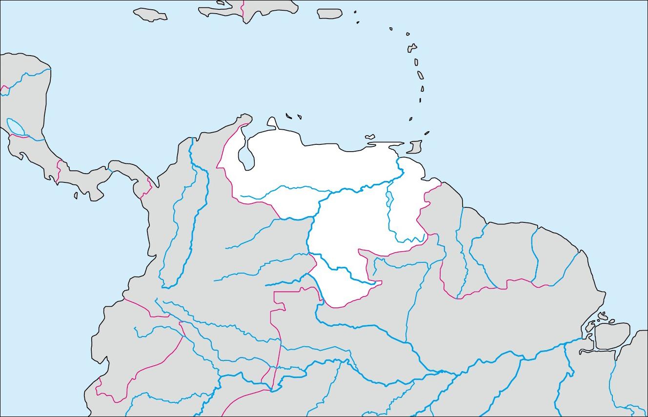 ベネズエラの基礎データ [ さらに詳しいベネズエラのデータは→世界の国... 各国の白地図  