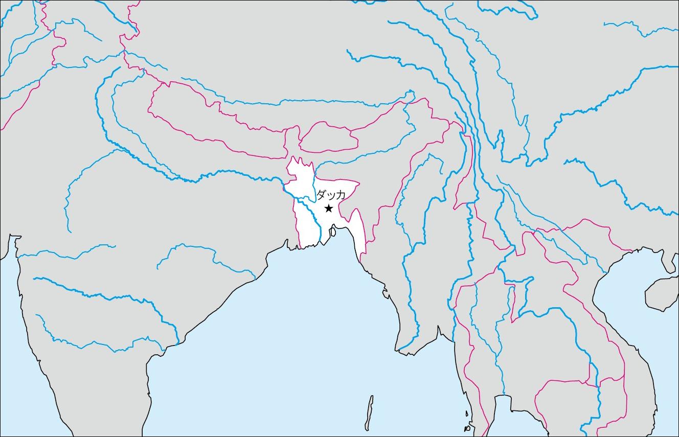 白地図 アジア 白地図 フリー : ... の白地図 | 各国の白地図
