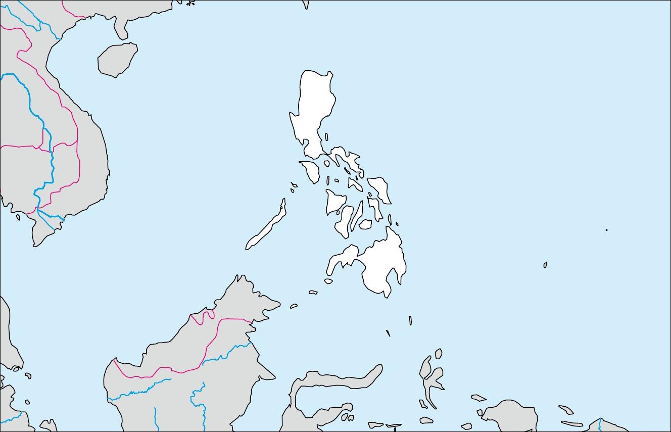 フィリピン白地図(首都なし)のフリー画像 フィリピンの基礎データ 面 積 首 都 言 語 主要産