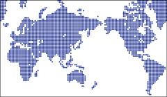 ミラー図法ドット地図(大ドット)の小さい画像