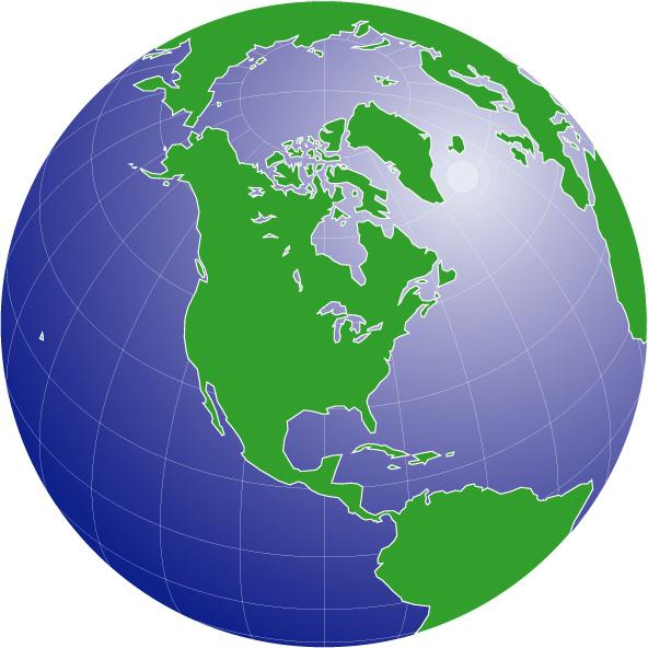 グラデ地図(北アメリカ中心