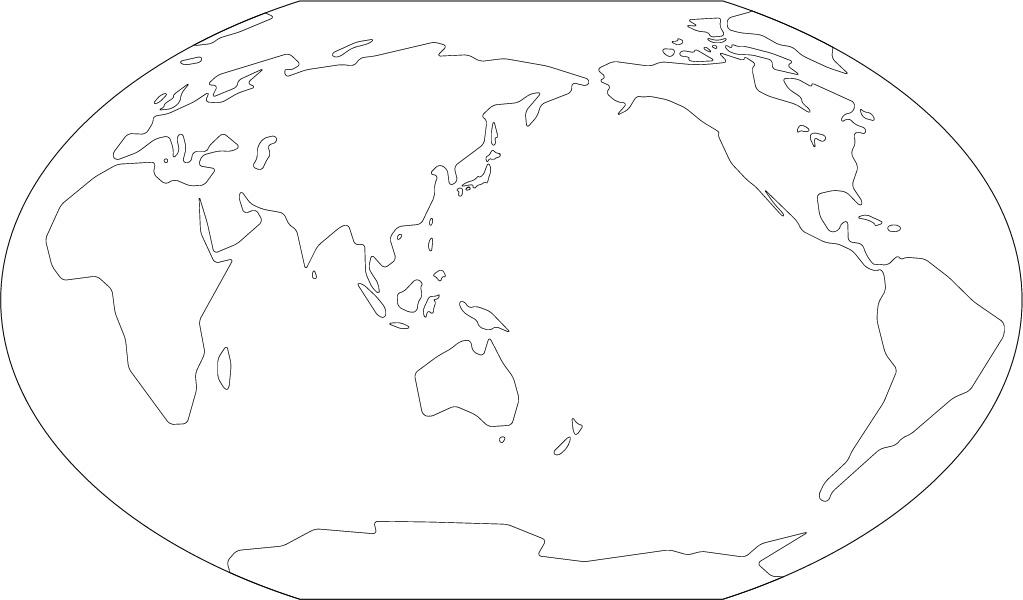 ヴィンケル図法白地図(さらに ... : ヨーロッパ地図 白地図 : 白地図